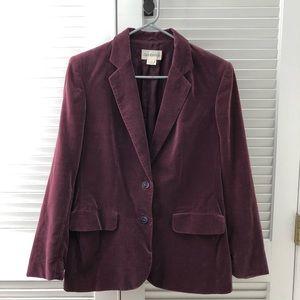Jackets & Blazers - Maroon velvet blazer - excellent condition!